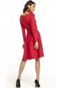 Sukienka rozkloszowana Tessita T287 czerwona tył
