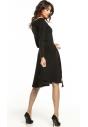 Sukienka rozkloszowana Tessita T287 czarna tył