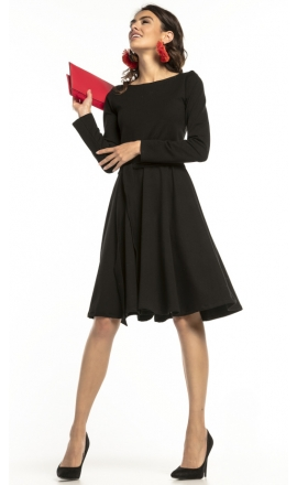 Sukienka rozkloszowana Tessita T287 czarna