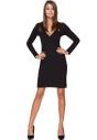Sukienka z kpertowym dekoltem Tessita T215 czarna całe