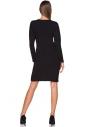 Sukienka z kpertowym dekoltem Tessita T215 czarna tył