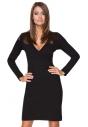 Sukienka z kpertowym dekoltem Tessita T215 czarna