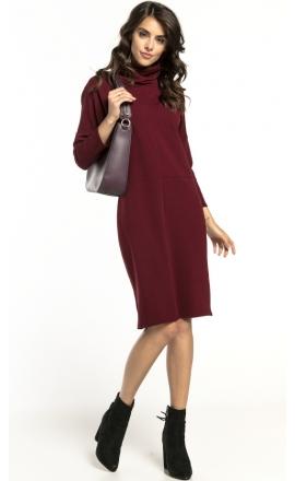 Sukienka dzianinowa Tessita T290 bordo