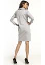 Sukienka dzianinowa Tessita T290 jasno szara tył