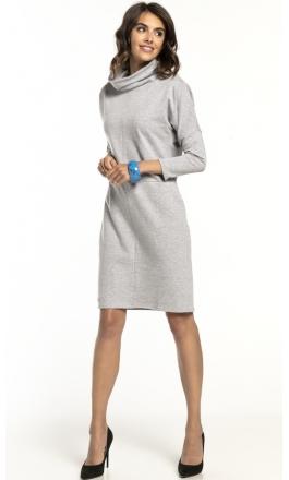 Sukienka dzianinowa Tessita T290 jasno szara