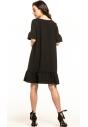 Sukienka midi Tessita T315 czarna tył