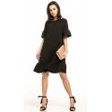 Sukienka midi z krótkim rękawem w kolorze czarnym T315