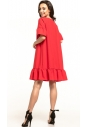 Sukienka midi Tessita T315 malinowa tył