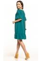 Sukienka midi Tessita T315 szmaragdowa tył