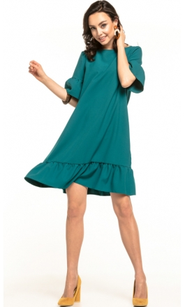 Sukienka midi Tessita T315 szmaragdowa