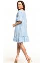 Sukienka midi Tessita T315 błękitna tył