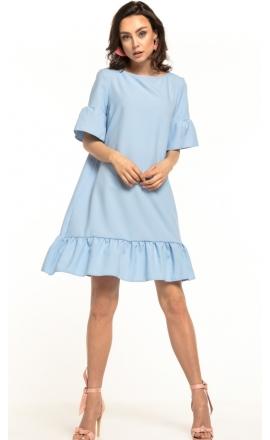 Sukienka midi Tessita T315 błękitna