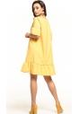Sukienka midi Tessita T315 żółta tył