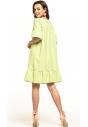 Sukienka midi Tessita T315 limonkowa tył