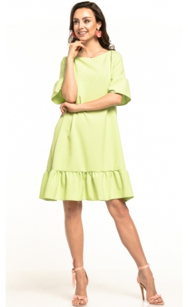 Sukienka midi Tessita T315 limonkowa