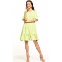 Sukienka midi z krótkim rękawem w kolorze jasno zielonym T315
