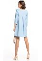 Sukienka z kontrafałdą Tessita T322 jasno-niebieska tył