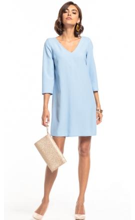 Sukienka z kontrafałdą Tessita T322 jasno-niebieska