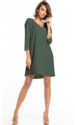 Sukienka z kontrafałdą Tessita T322 khaki