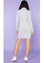 Sukienka dresowa z pólgolfem Tessita MMM23 jasno szara tył