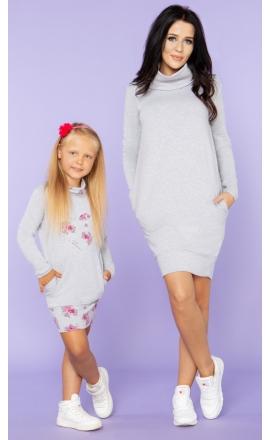 Sukienka dresowa z półgolfem Córka Tessita MMD23 komplet