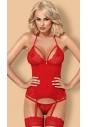Gorset erotyczny Obsessive 838-COR-3 czerwony