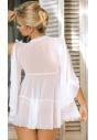 Koszulka babydoll Excellent Beauty N-721 biała tył