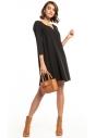 Sukienka z kontrafałdą Tessita T322 czarna