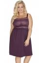 Koszulka nocna Akcent model 500 burgund plus size