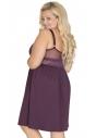 Koszulka nocna Akcent model 500 burgund tył plus size