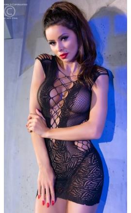 Koszulka nocna erotyczna Chilirose CR-4384 czarna
