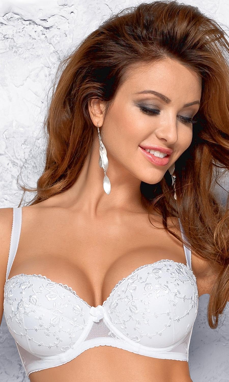 Biustonosz ślubny Zara biały