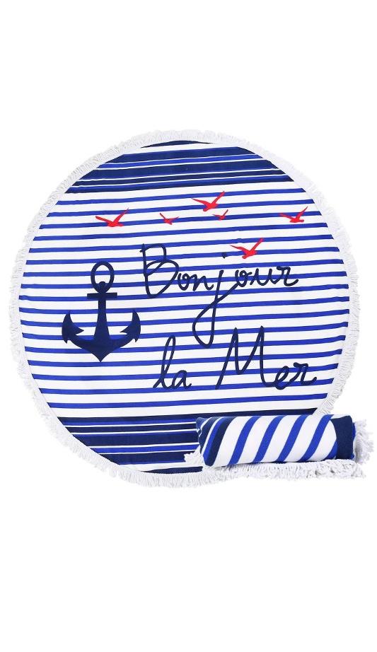 Ręcznik plażowy okrągły Bonjur